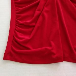 AGB Tops - AGB Red V Neck Top Size Small